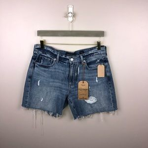 Lucky Brand The Boyfriend Destructed Jean Short